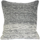 Hygge Storm Gray Knit Pillow