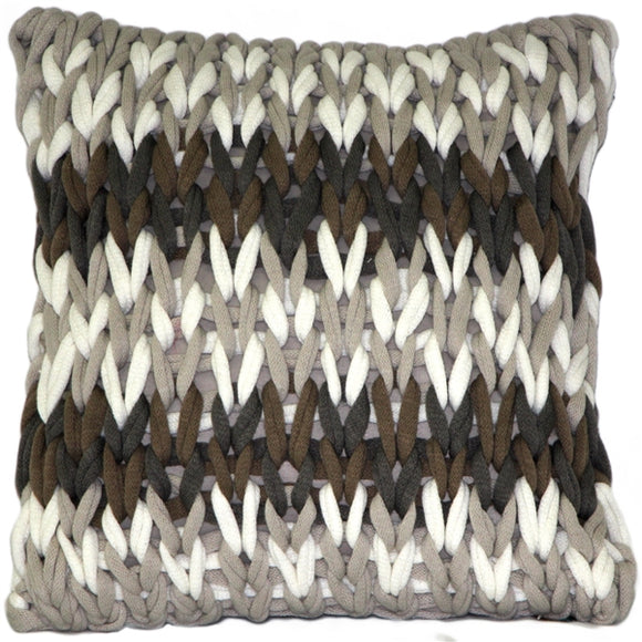Hygge Nordic Forest Chunky Knit Pillow