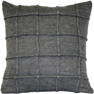 Hygge Urban Gray Knit Pillow