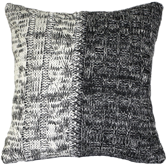 Hygge Chalet Gray Knit Pillow
