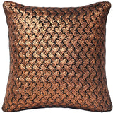 Hygge Metallic Copper Knit Pillow