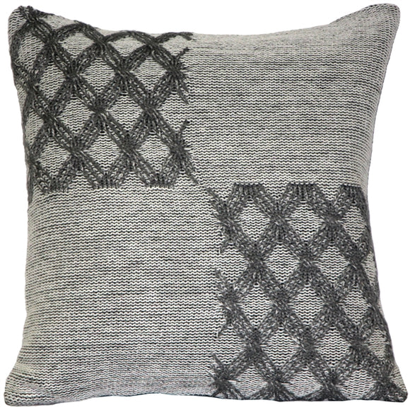 Hygge Morning Gray Knit Pillow