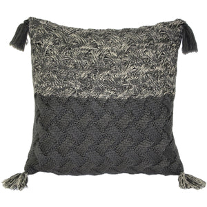 Hygge Winter Field Cross Knit Pillow