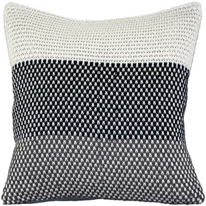 Hygge Tri-Stripe Blue Knit Pillow