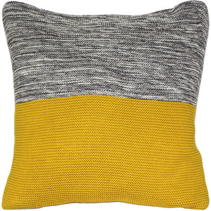 Hygge Espen Yellow Knit Pillow