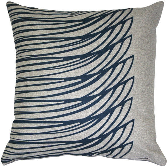 Kukamuka Meri Blue Throw Pillow 19x19