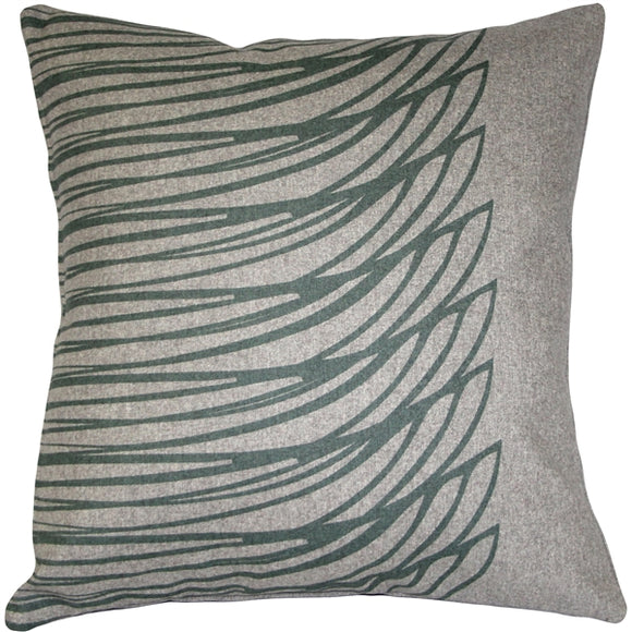 Kukamuka Meri Green Throw Pillow 19x19