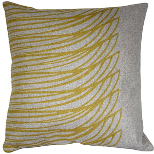 Kukamuka Meri Yellow Throw Pillow 19x19