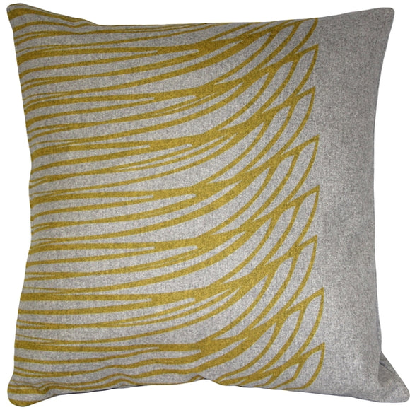 Luonto Meri Yellow Throw Pillow 19x19