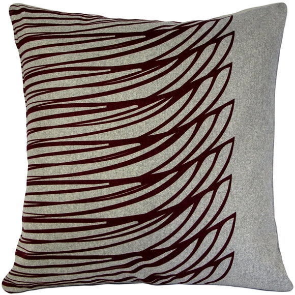 Kukamuka Meri Red Throw Pillow 19x19