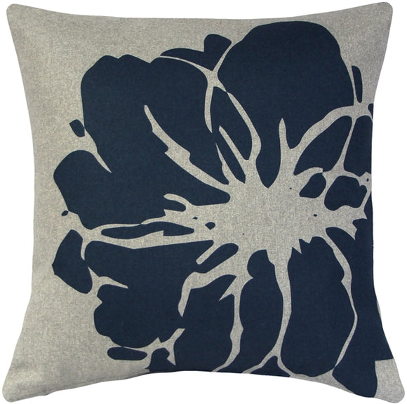Kukamuka Lily Blue Throw Pillow 19x19