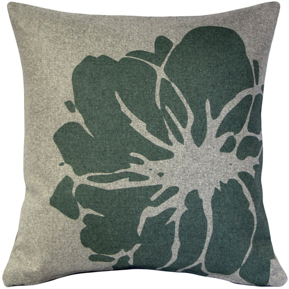 Kukamuka Lily Green Throw Pillow 19x19