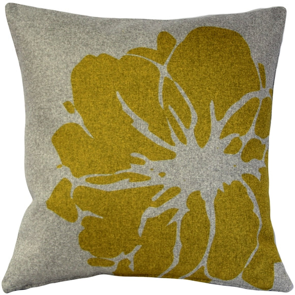Kukamuka Lily Yellow Throw Pillow 19x19