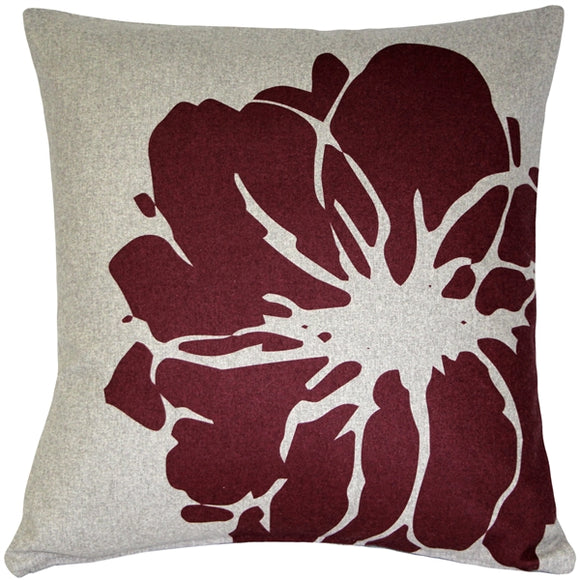 Luonto Lily Red Throw Pillow 19x19