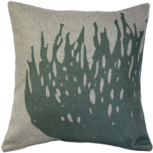 Kukamuka Hay Green Throw Pillow 19x19