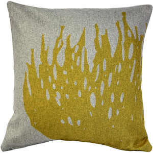 Kukamuka Hay Yellow Throw Pillow 19x19