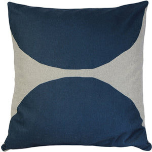 Luonto Kivi Blue Throw Pillow 22x22