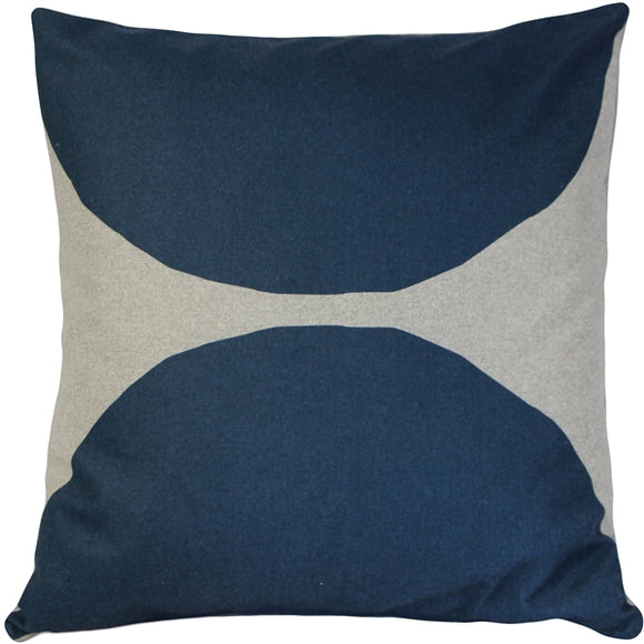Kukamuka Kivi Blue Throw Pillow 22x22