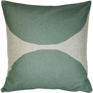 Kukamuka Kivi Green Throw Pillow 22x22