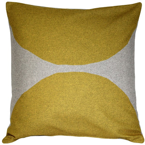 Kukamuka Kivi Yellow Throw Pillow 22x22