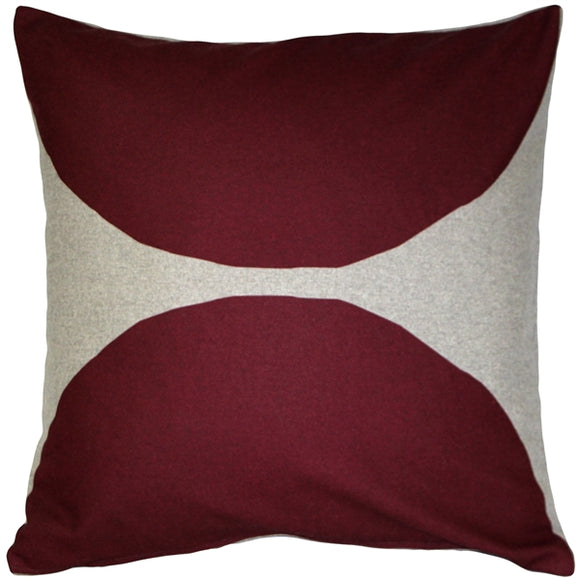 Kukamuka Kivi Red Throw Pillow 22x22