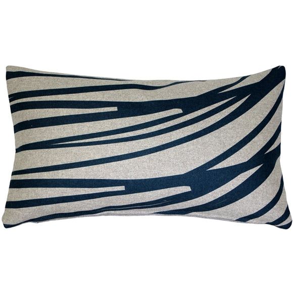 Kukamuka Meri Blue Throw Pillow 12x19