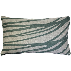 Kukamuka Meri Green Throw Pillow 12x19