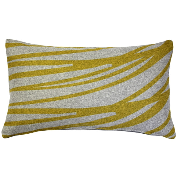 Luonto Meri Yellow Throw Pillow 12x19