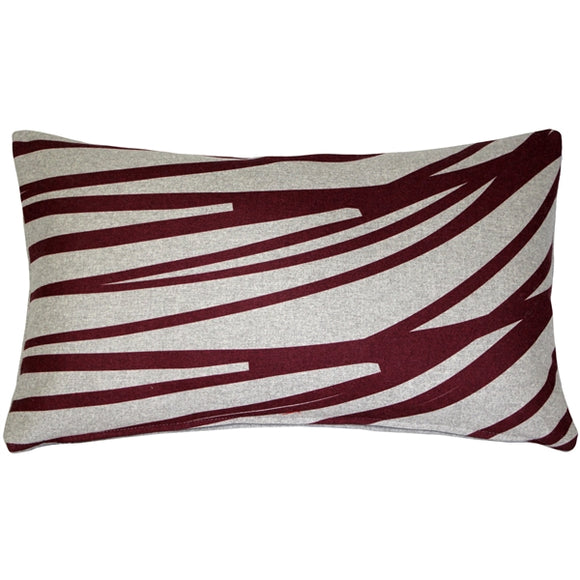 Kukamuka Meri Red Throw Pillow 12x19