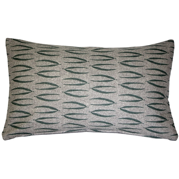Kukamuka Eka Green Throw Pillow 12x19