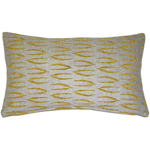 Kukamuka Eka Yellow Throw Pillow 12x19