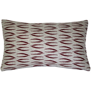 Kukamuka Eka Red Throw Pillow 12x19
