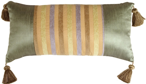 Madeira Stripes Decorative Pillow (WITH TASSELS)