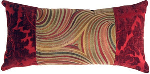 Multicolor Swirl Motif Decorative Pillow (NO TASSELS)