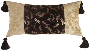 Dragonfly Dream Decorative Pillow (WITH TASSELS)
