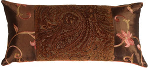 Pink and Paisley Decorative Pillow (NO TASSELS)