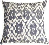 Caravan Ikat Old Blue 20X20 Throw Pillow