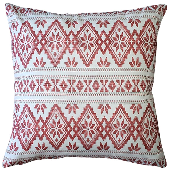 Malmo Red Diamond Throw Pillow 17x17