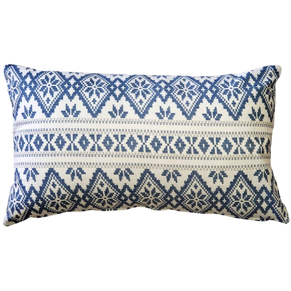 Malmo Blue Diamond Throw Pillow 12x19