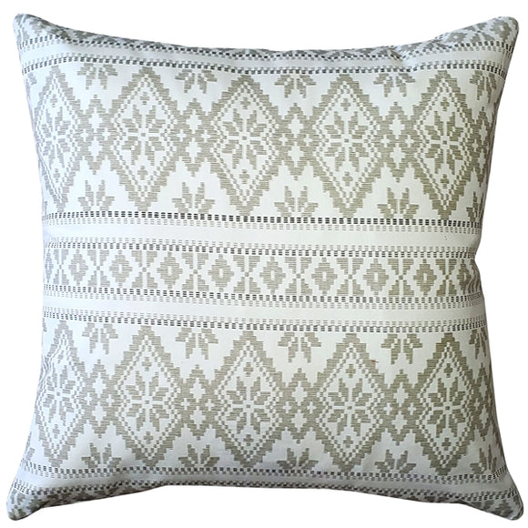 Malmo Cream Diamond Throw Pillow 17x17