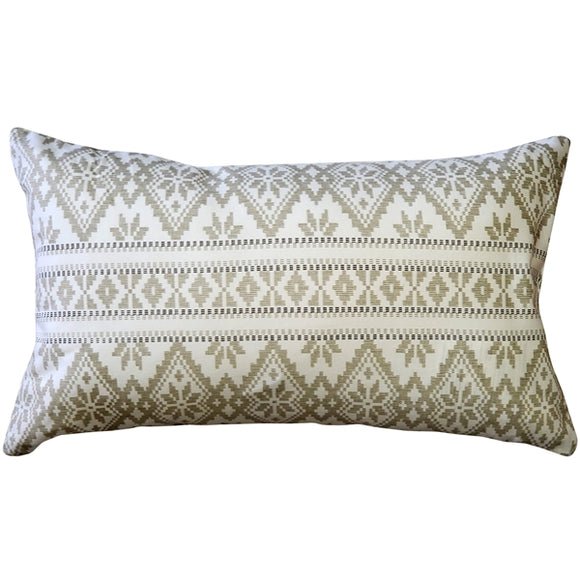 Malmo Cream Diamond Throw Pillow 12x19