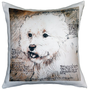Westie Terrier 17x17 Dog Pillow
