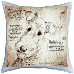 Airedale Terrier 17x17 Dog Pillow