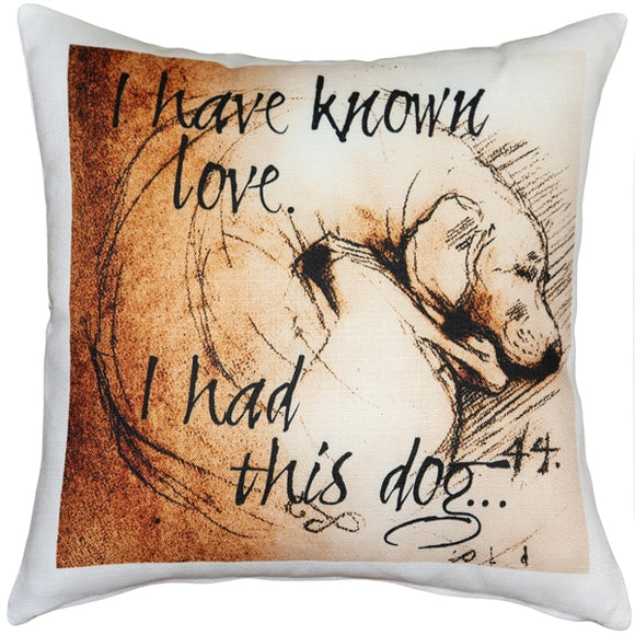 I Have Known Love 17x17 Dog Pillow
