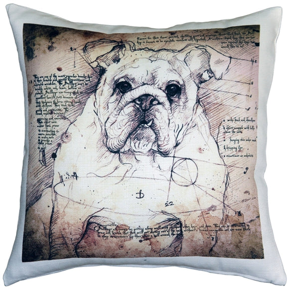 British Bulldog 17x17 Dog Pillow