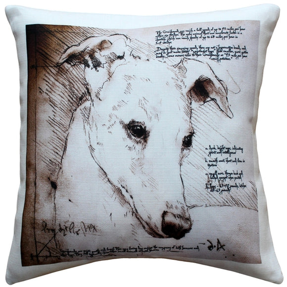 Greyhound 17x17 Dog Pillow