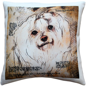 Maltese 17x17 Dog Pillow