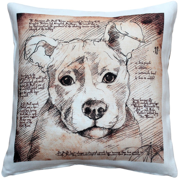 Pit Bull 17x17 Dog Pillow