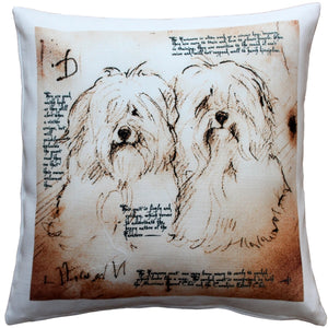 Havanese Duo Dog Pillow 17x17