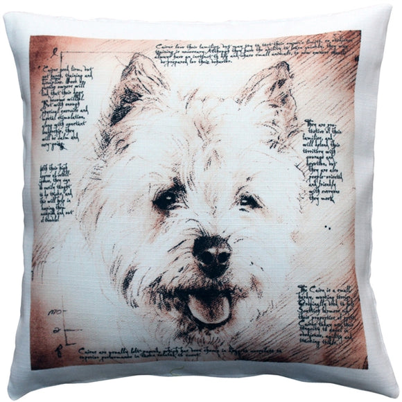 Cairn Male Dog Pillow 17x17